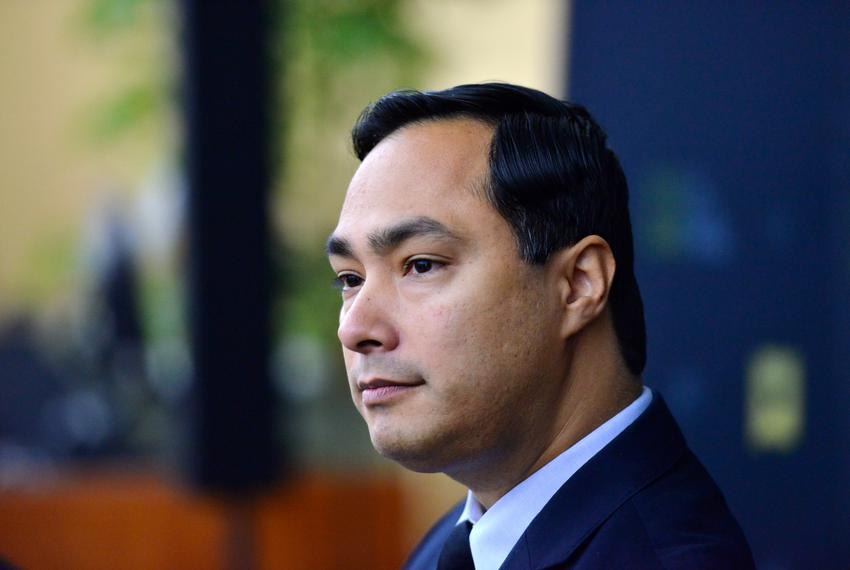 Congressman Joaquin Castro listens to comments during A Symposium on Immigration by the Texas Tribune at the University of T…