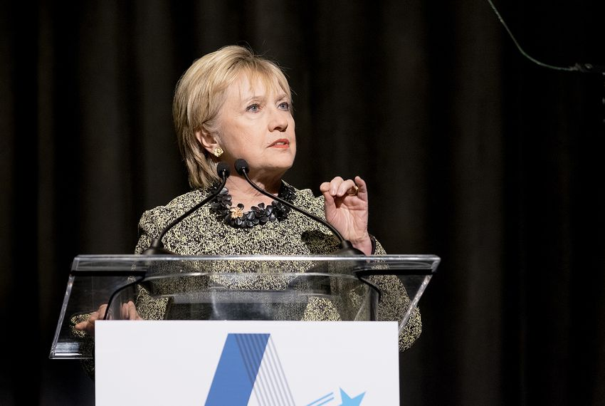 Former presidential candidate Hillary Clinton at an Annie's List lunch in Houston on Friday April 7, 2017.