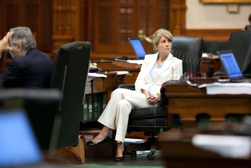 Texas Senator Wendy Davis, D-Fort Worth, in the Senate chamber on May 29, 2011 where her one hour filibuster killed SB1811 f…