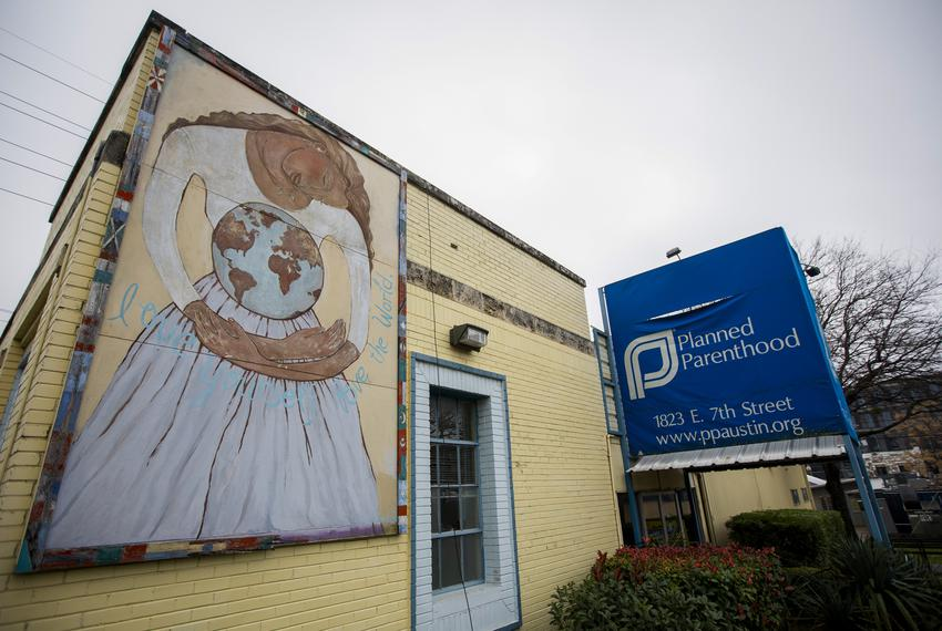 The exterior of Planned Parenthood's Downtown Austin Health Center on Jan. 14, 2020. The location was being renovated at tim…
