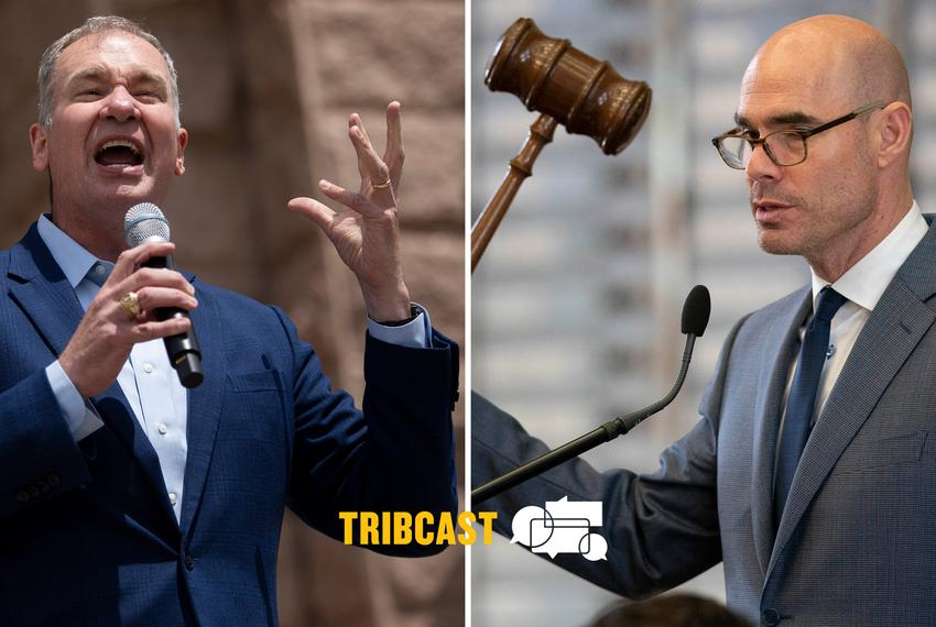 From left: Empower Texans CEO Michael Quinn Sullivan and House Speaker Dennis Bonnen.