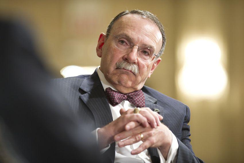 Former Texas A&M President R. Bowen Loftin at Tribune event on April 28, 2011.