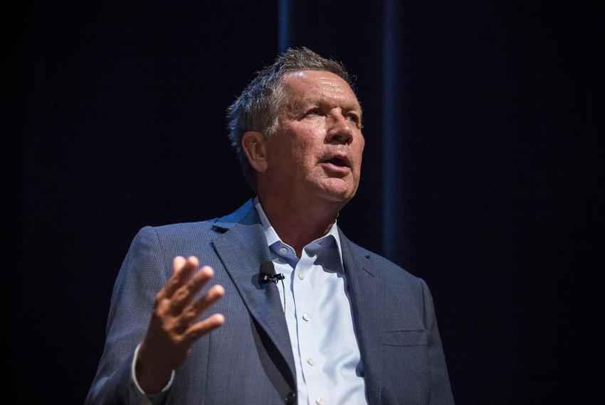 Ohio Gov. John Kasich is interviewed by Texas Tribune CEO Evan Smith at The Texas Tribune Festival on Sept. 23, 2016.
