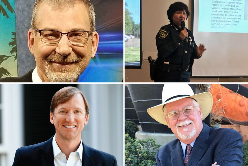Clockwise from top left: Dallas businessman Jeffrey Payne, Dallas County Sheriff Lupe Valdez, former congressional candidate Tom Wakely and Andrew White, son of former Texas Gov. Mark White.