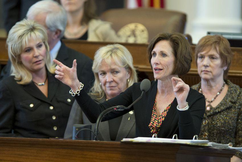 State Rep. Lois Kolkhorst, R-Brenham, explains Medicaid reimbursements on the House floor on April 4, 2013.