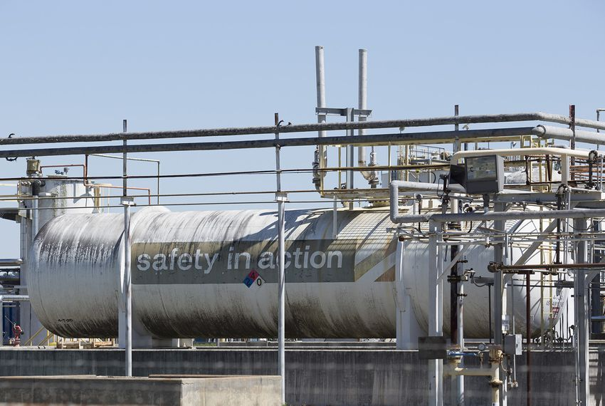 The Arkema chemical plant in Crosby on March 20, 2018, where a pressure release after a power failure during Hurricane Harvey caused an evacuation and many people reported health issues after breathing the air around the plant.