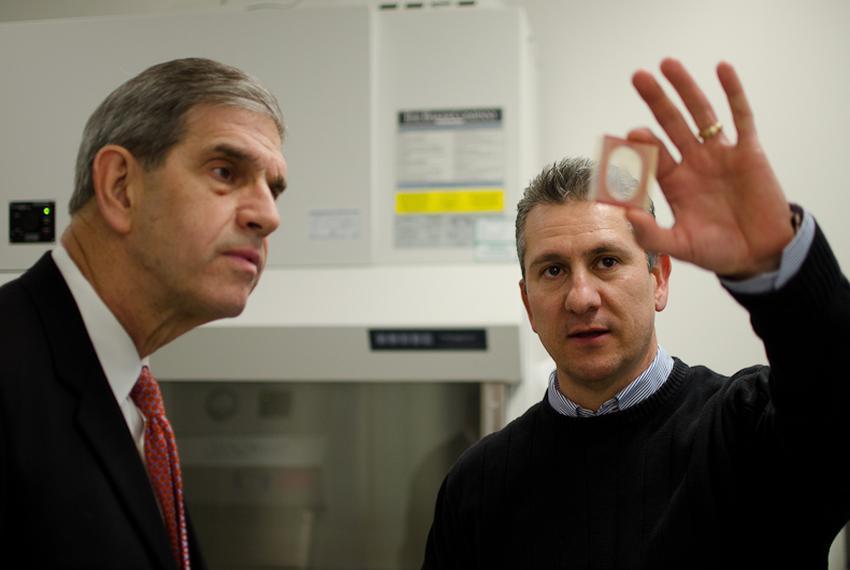 Dr. Mario Romero-Ortega, associate professor of bioengineering at the University of Texas at Arlington, discusses his resear…
