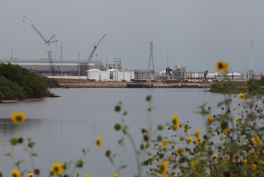 The Dow chemical plant along the Brazos River in Freeport, Texas.