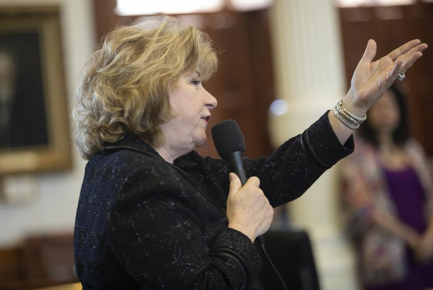 State Sen. Jane Nelson, R-Flower Mound on the Senate floor on April 9, 2019.