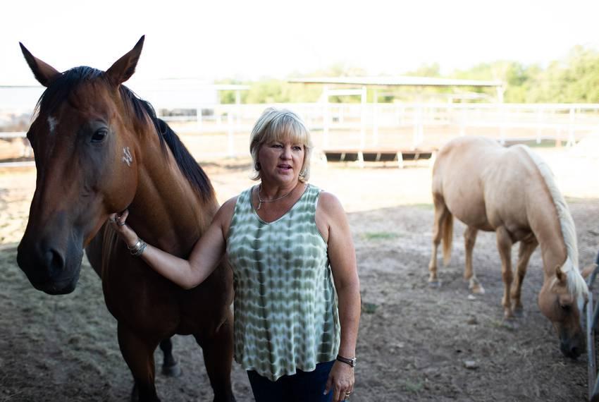 Rancher Kristie West.
