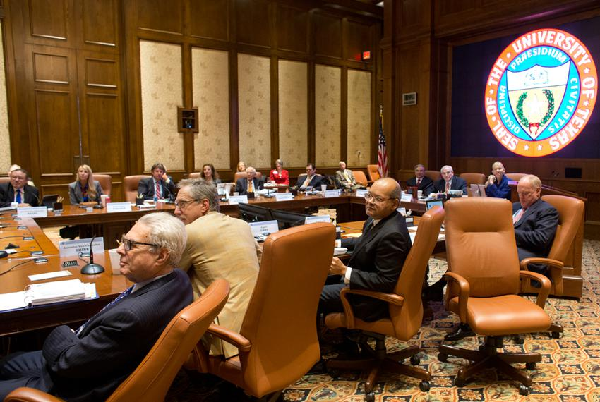 The Board of Regents meeting for The University of Texas System on Feb. 14, 2013 at Ashbell Smith Hall.