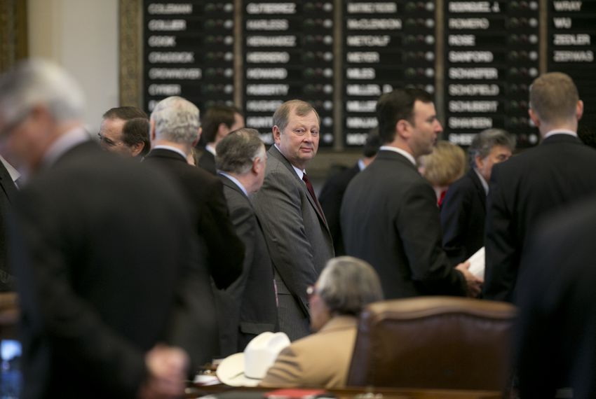 Group congratulates Rep. John Otto R-Dayton after HB1 passes on May 29, 2015