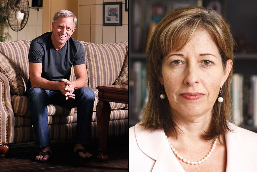 Dr. Susan Tortolero (right) and Pastor Ed Ainsworth (left)