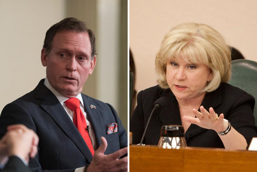 House Appropriations Chairman John Zerwas, R-Richmond, and Senate Finance Chairwoman Jane Nelson, R-Flower Mound.