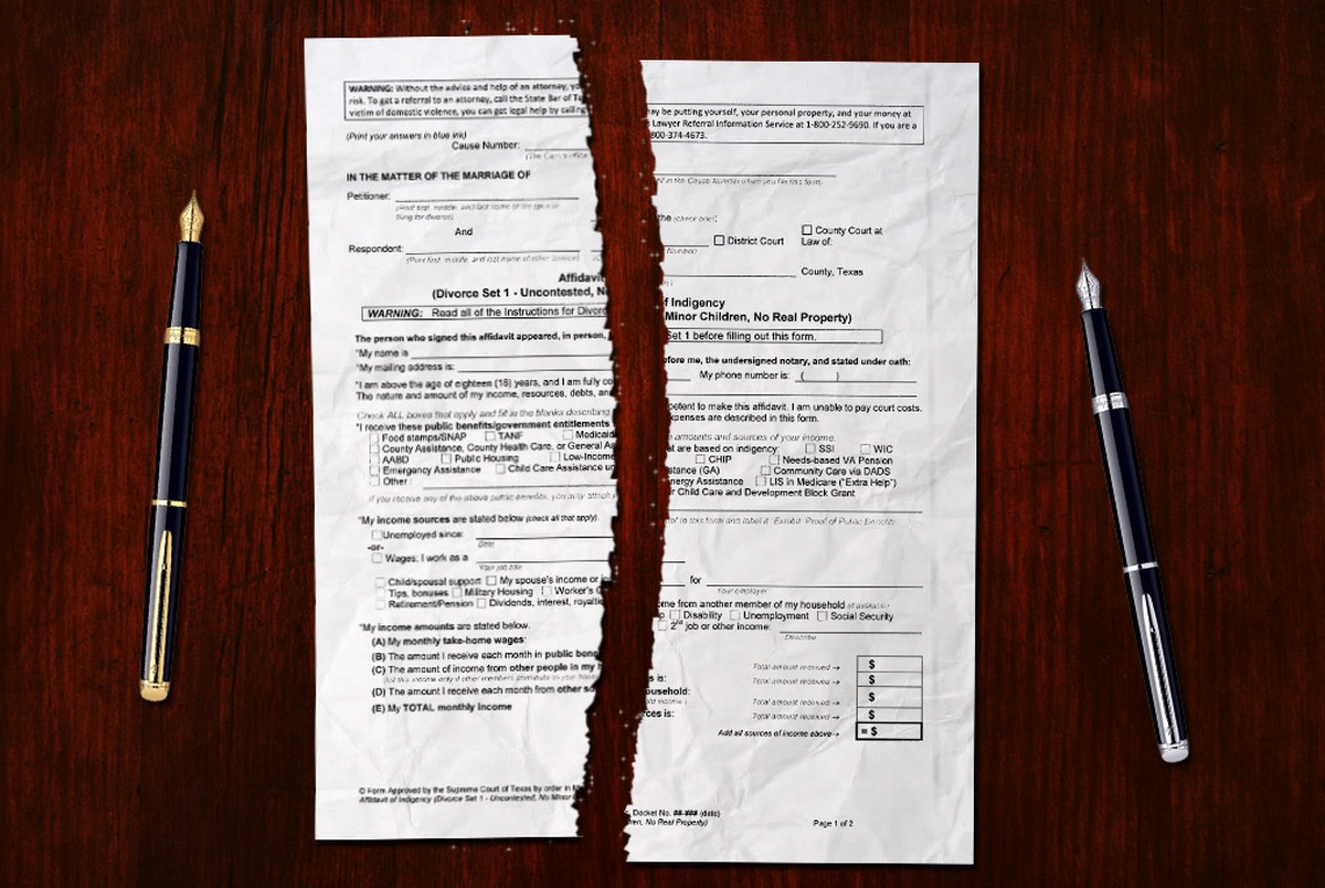 New Forms Allow Couples to Divorce Without Attorney | The Texas ...
