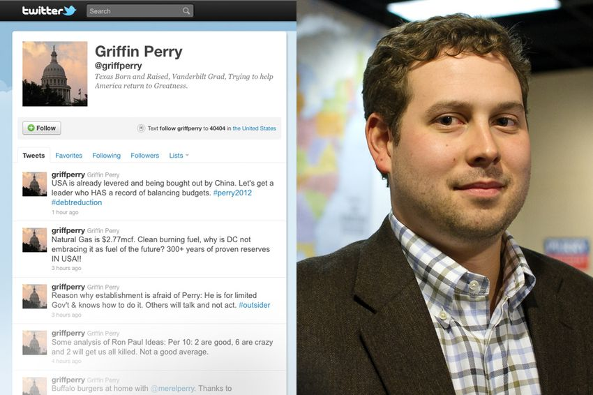 Rick Perry's son Griffin has injected energy into his father's downtrodden presidential campaign via his Tweets.