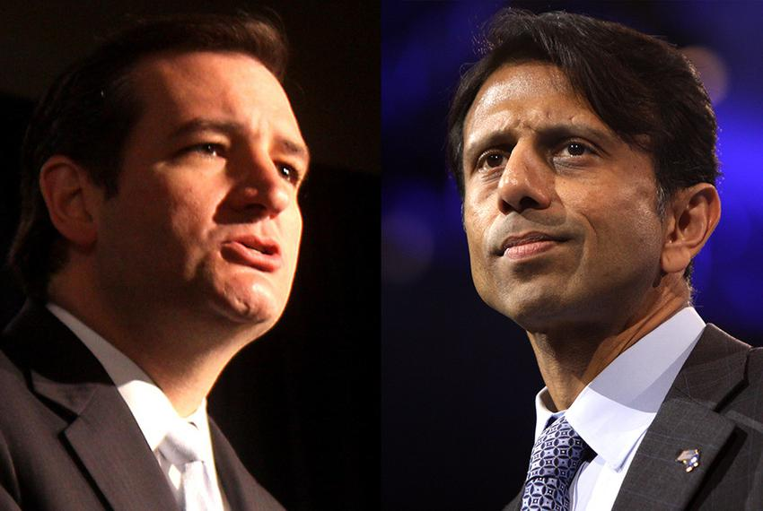 U.S. Sen. Ted Cruz (l), Louisiana Gov. BobbyJindal (r)