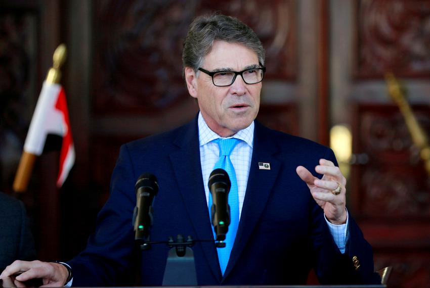 U.S. Energy Secretary Rick Perry  at a news conference in Baghdad, Iraq on Dec. 11, 2018.