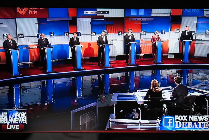 The first GOP presidential debate of the 2016 election cycle in Cleveland, Ohio, on August 6, 2015. Seven candidates didn't …