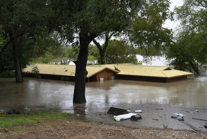Record rainfall in Llano and Burnet counties in the Texas Hill Country caused major flooding in Marble Falls in October.