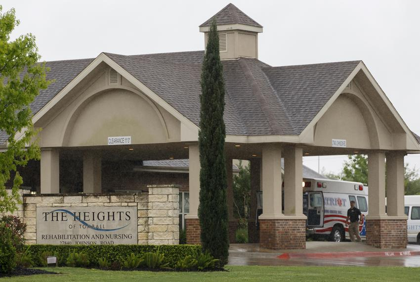 The Tomball nursing home in Houston is the site where an elderly man lived before dying this week of a COVID-19 infection. M…