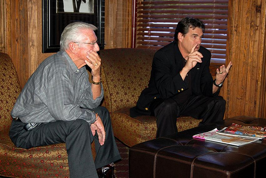 Tyler, TX. State Rep. Leo Berman and Gov. Rick Perry in May, 2008.