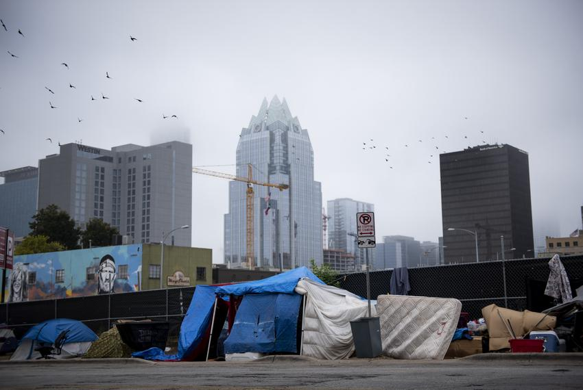 Tents found in front of the Austin Resource Center for the Homeless (ARCH) on Oct. 29, 2019. The residents have to make su...