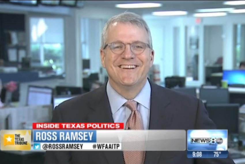 "Texas Tribune Executive Editor Ross Ramsey on WFAA-TV's ""Inside Texas Politics"" on August 3, 2014"