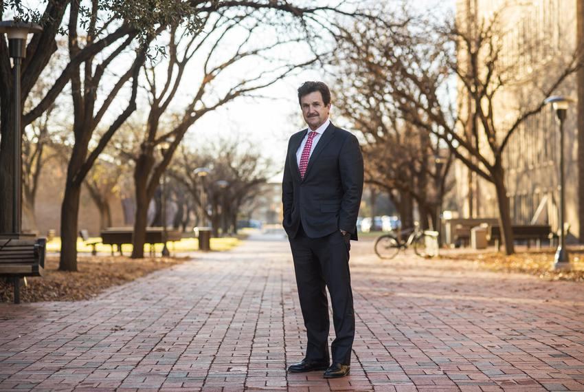 Texas Tech University President Lawrence Schovanec on the Texas Tech campus on Dec. 4, 2020, in Lubbock.