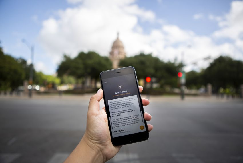 The iWatchTexas application was released in 2018 to help report suspicious activity in schools and communities.
