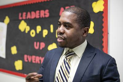 Damien Stovall is principal of Edward Tiche Elementary, an ACE school.