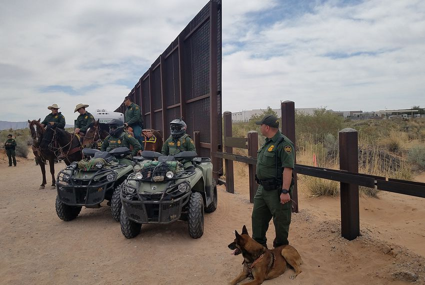Border Patrol agents in New Mexico on April 9, 2018.