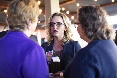Democratic candidate for Texas Supreme Court Brandy Voss at the Texas Justice Tour event in Cedar Park on Feb. 16, 2020.