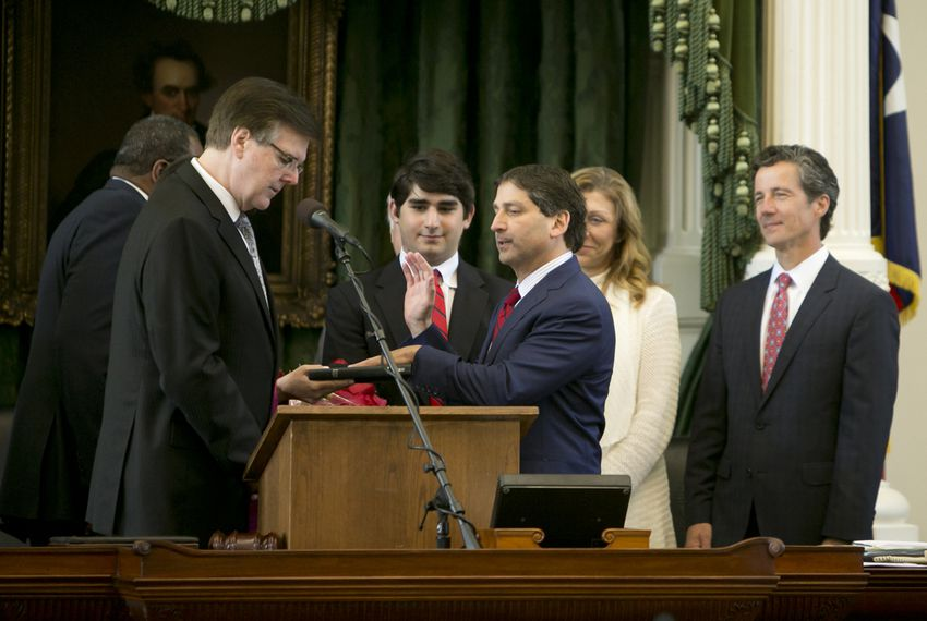 Sen. Kevin Eltife R-Tyler is sworn in as President pro tempore of the Texas Senate on June 1, 2015