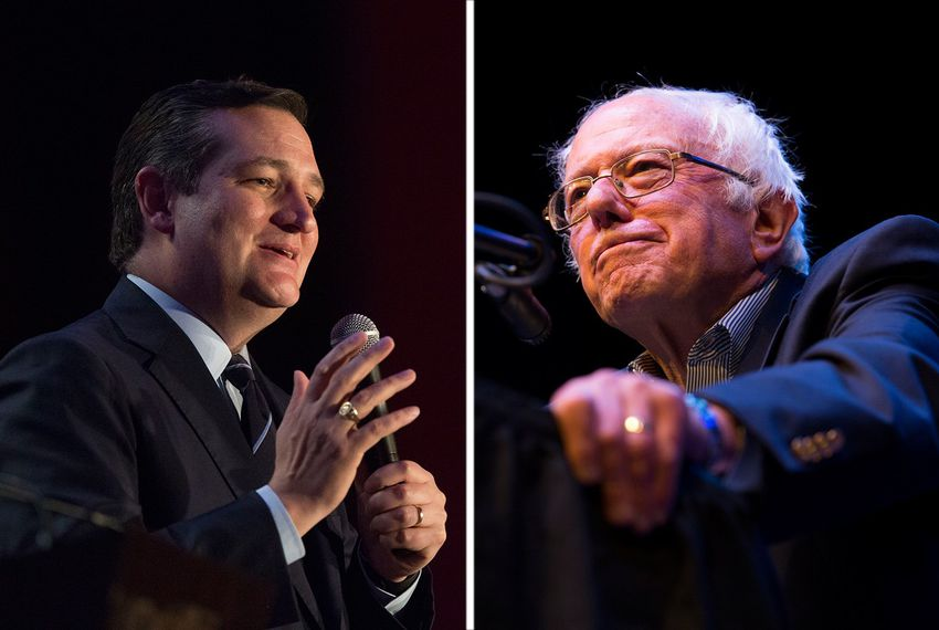 U.S. Sens. Ted Cruz and Bernie Sanders.