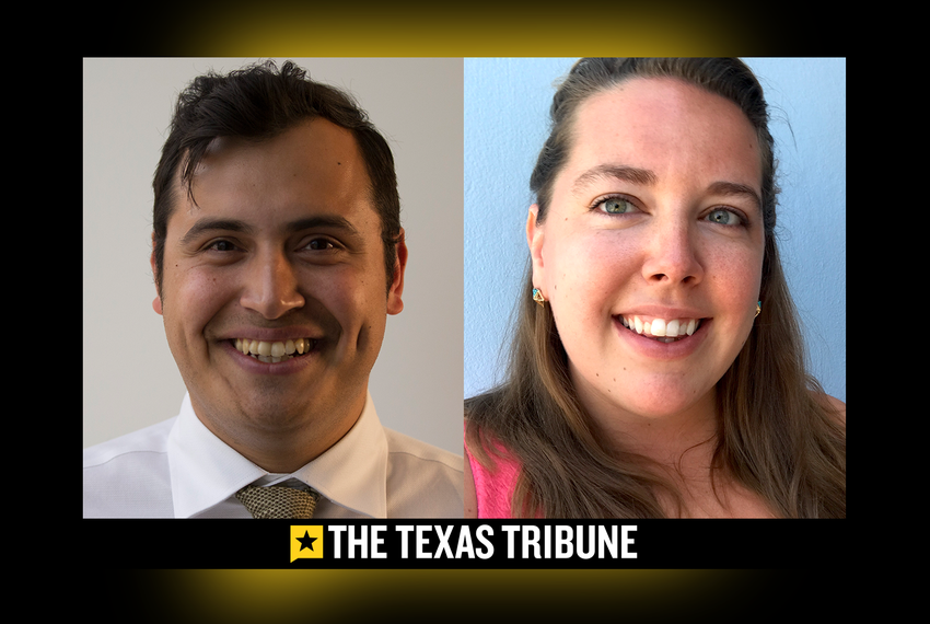 Jonathan Solano and Sarah Glen new staff at The Texas Tribune.