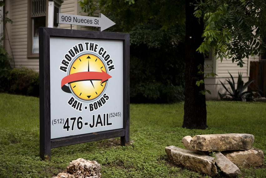 Around the Clock Bail Bonds on 10th St. and Nueces in Austin on May 8, 2019.