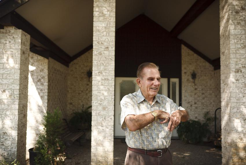 Retired Galveston County Judge Ray Holbrook at his home in Santa Fe, Texas, on Sept. 12, 2011. A public official for 28 year…