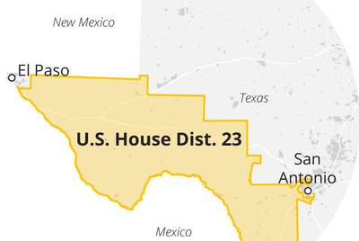 A map of Texas Congressional District 23.