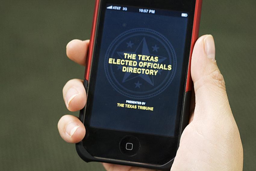The Texas Tribune iPhone app.