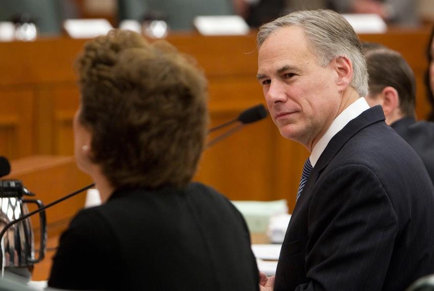 Texas Attorney General Greg Abbott, during a Senate Finance committee hearing on February 5th, 2013