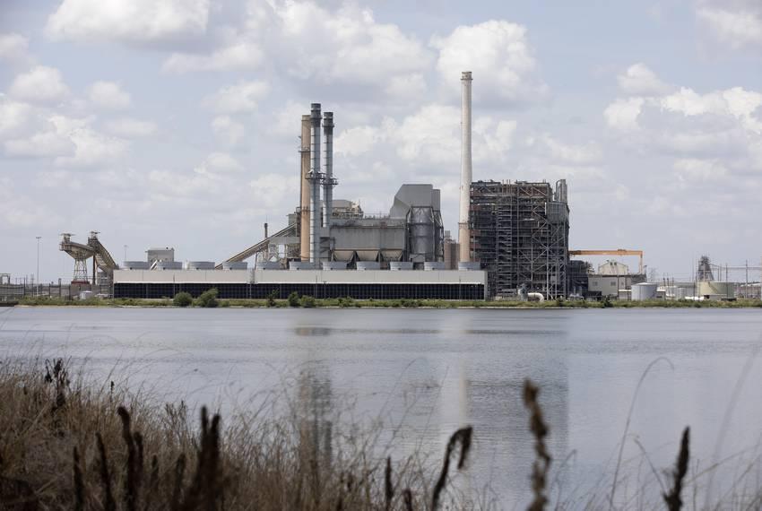 The Alcoa power plant near Rockdale on August 1, 2019.