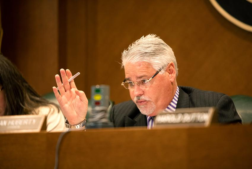 Chairman of the House Public Education Committee and State Rep. Dan Huberty, R-Houston, hears public testimonies during th...
