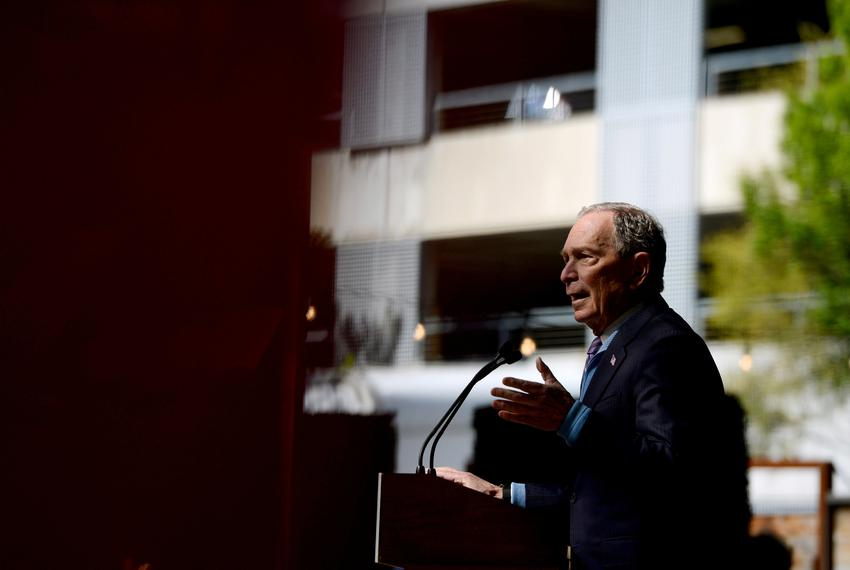 U.S. 2020 Democratic presidential candidate Michael Bloomberg speaks at a campaign rally in Houston on Feb. 27, 2020.