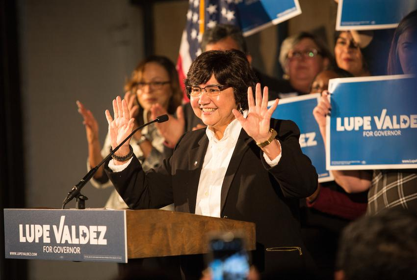 Lupe Valdez, former Dallas County Sheriff, speaks during a kickoff event for her 2018 gubernatorial campaign in Dallas on ...