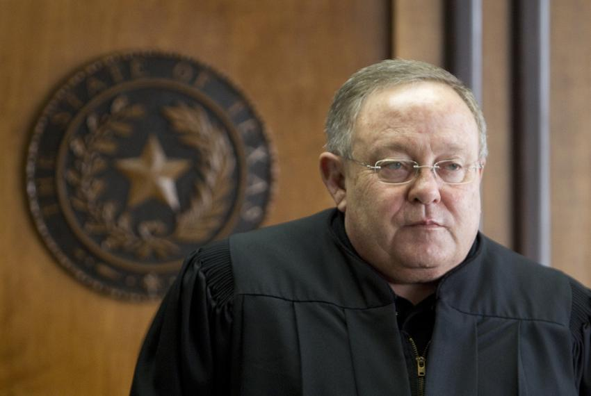 District Court Judge John Dietz of Austin is shown in his courtroom on Feb. 4, 2013, before he ruled that the state's scho...