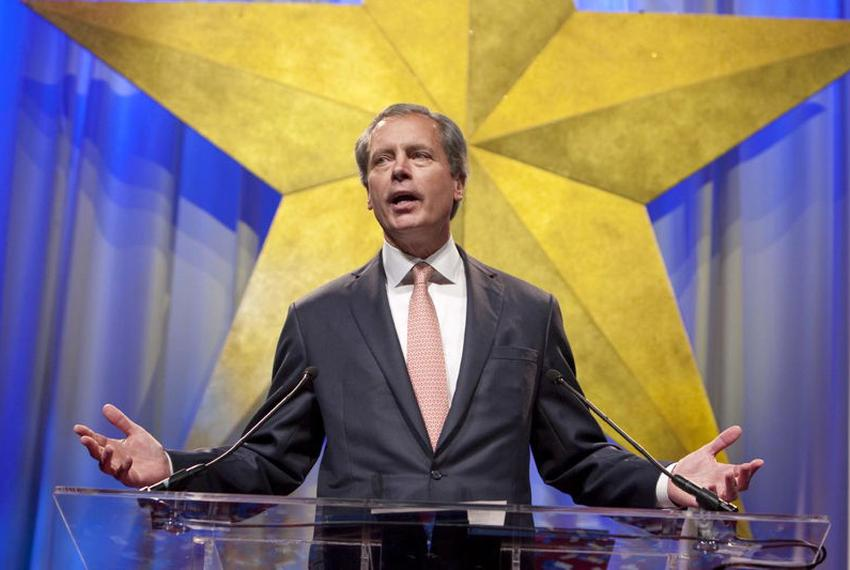Lt. Governor David Dewhurst give a keynote speech. First general session of the Texas Republican Convention featuring Govern…