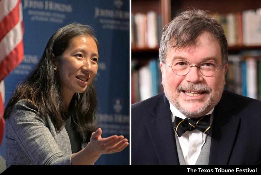 Leana Wen and Peter Hotez.