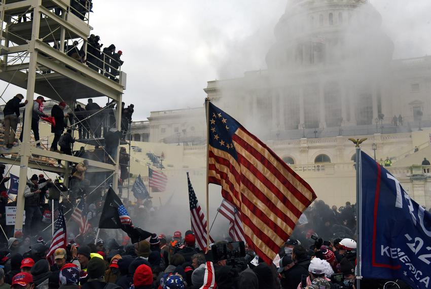 Pro-Trump rioters protested and stormed into the U.S. Capitol in Washington, D.C., on Jan. 6, 2021.