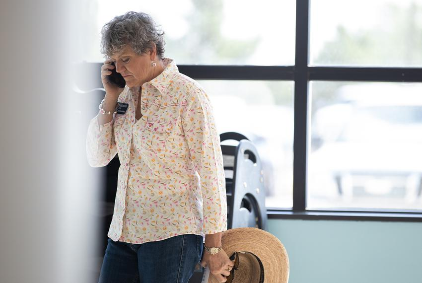 During her July tour of Midland, Olson receives a phone call from her campaign manager notifying her that the Austin Ameri...